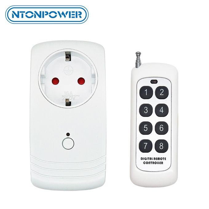 Ntonpower Wifi Prise De Courant Intelligente Prise Eu App Sans Fil Télécommande Minuterie Interrupteur Fonctionne Avec Alexa Pour La Domotique