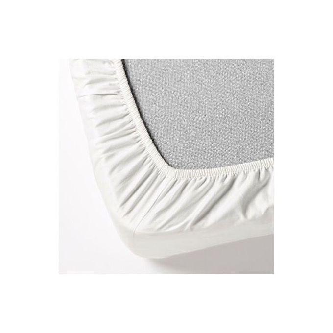 Drap Housse De Lit Blanc Fargmara 140x200 Cm