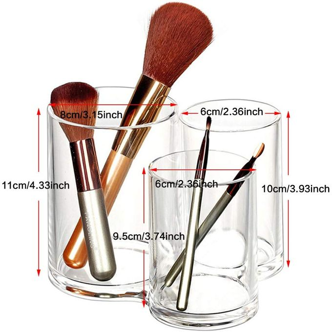 Sanili Rangement de Maquillage 3 Pots pour Coton en Acrylique avec Couvercle à prix pas cher ...