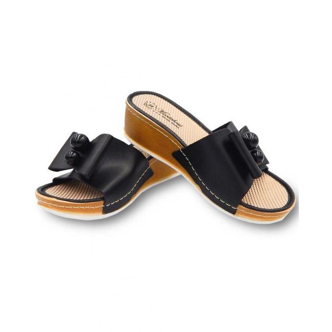 Chaussures Sandales à talons Compensés Femme Demi Saison Noires