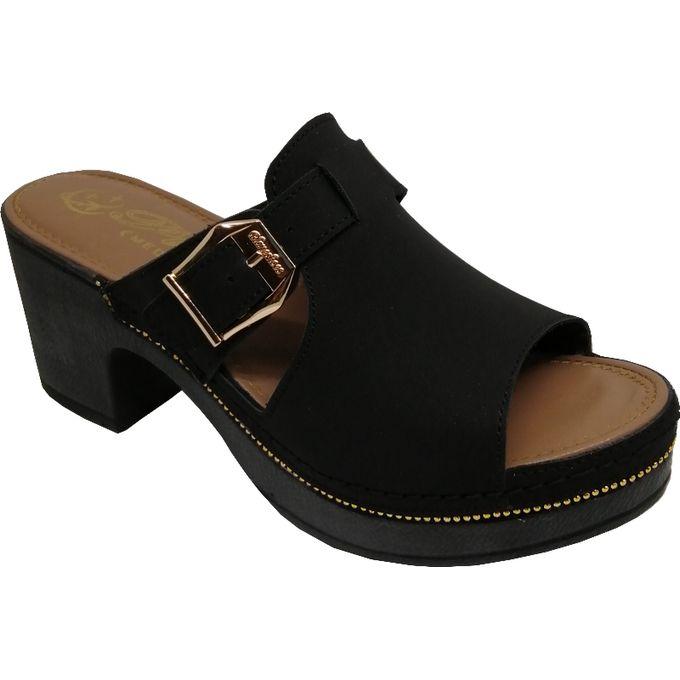 Sandale médicale Femme Confortable NOIR