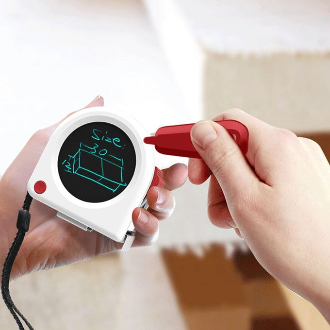 Ruban à Mesurer Portable Multifonctionnel Rétractable De Haute Précision 5 Mètres Mètre Laser Stadio Avec Tableau Décriture Lcd