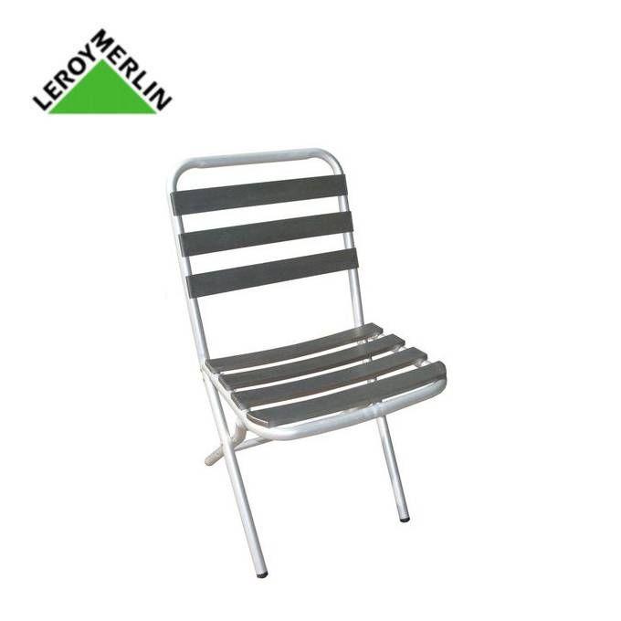 Chaise Pliante De Jardin Gris Aluminium Boston Garantie 3 Ans