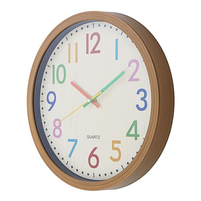 Generic Silent Non Ticking Quartz Kid Wall Clock Decorative Indoor A à Prix Pas Cher Jumia Maroc