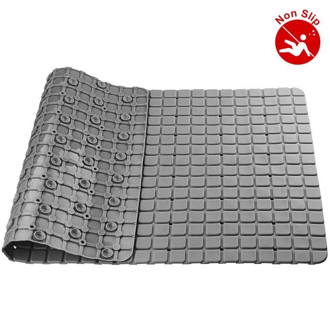 Antidérapante tapis Salle de bain NOIR Petit design en carreaux carrés