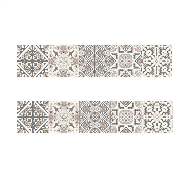 8 Pcs Retro Tile Stickers Pvc Self Adhesive Wall Stickers Decor Wallpaper Decoration