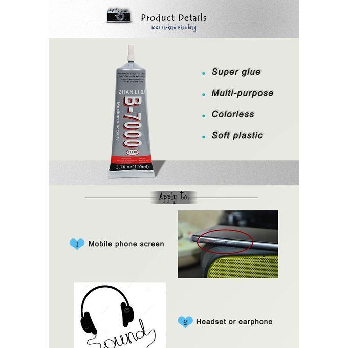 Colle B 7000 Originale Dadhésif Magique Resistante Water Proof Pour Métal Verre Céramique 110 Ml