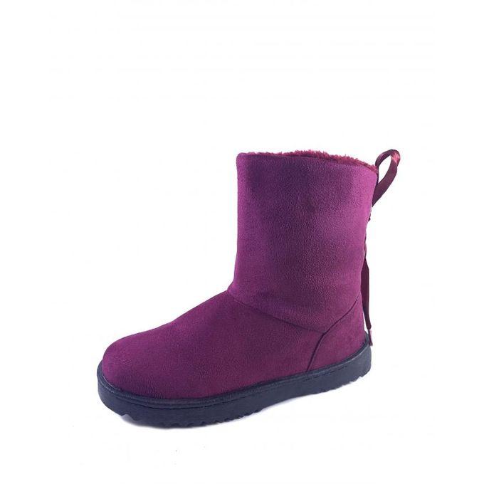 Très Bottine hiver d'hiver chic Grenat Confortable botte Chaussure et J3FclT1K