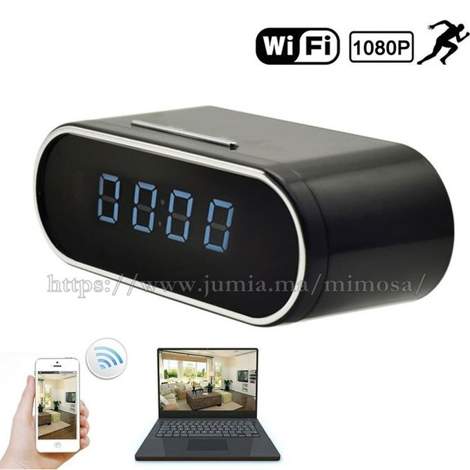 Horloge Réveil Caméra Cachée Hd 1080p Espion Ipwifi Accées à Distance Avec Detection De Mouvement Et Vision Nocturne
