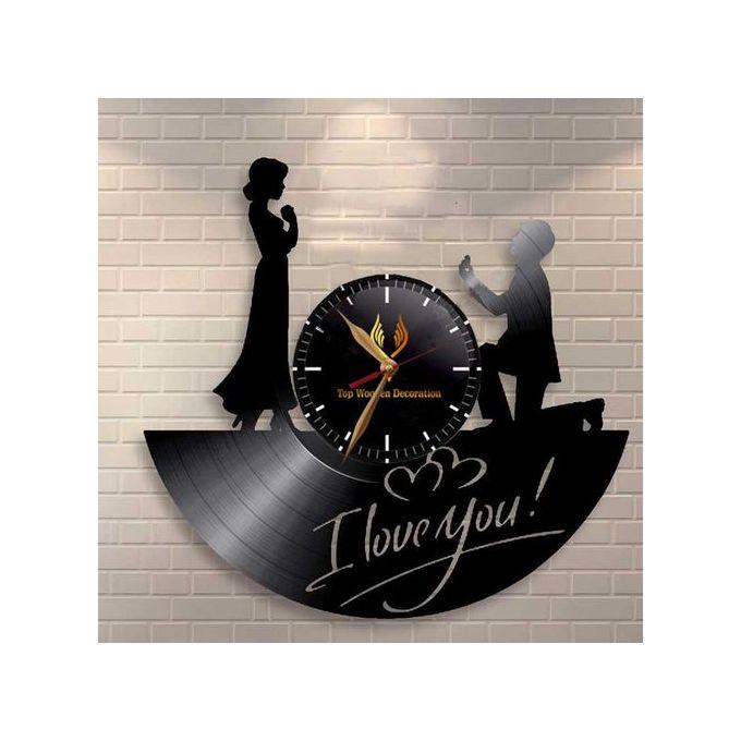 Horloge Murale I Love You Mariage