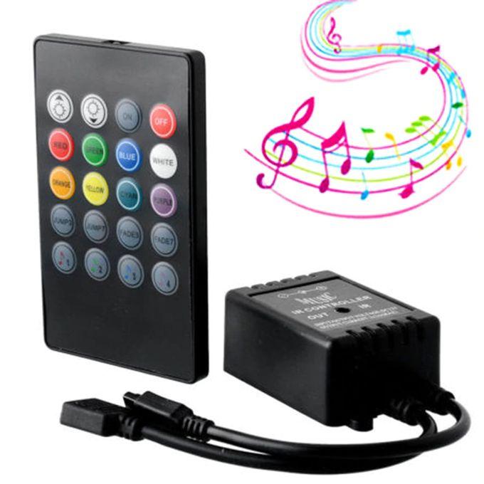 Music Voice Sensor Controller Sound Télécommande Ir Pratique Led Bande Lumineuse Contrôleurs Rgb