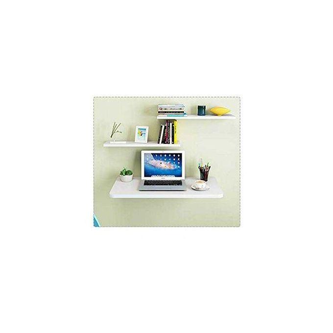 solution espace table pliable balnche cuisine et bureau l80 50 cm