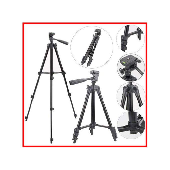 Tripied Trepied Support Pour Telephone Dappareil Photo Camera Léger Portatif 102cm En Aluminum