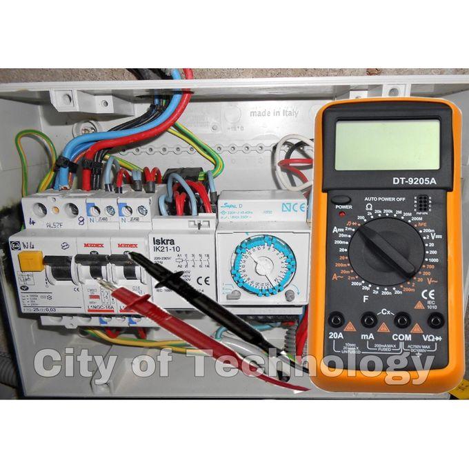 Multimètre Numérique Mitrix Dt9205a Compteur électronique Numérique Instrument De Mesure Détecteur De Tension Ca Portable Voltomètre