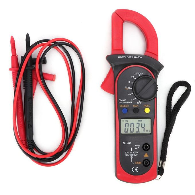 St201 Automatic Digital Clamp Meter Current Multimeter Ac Dc Voltage Resistance Diode Tester