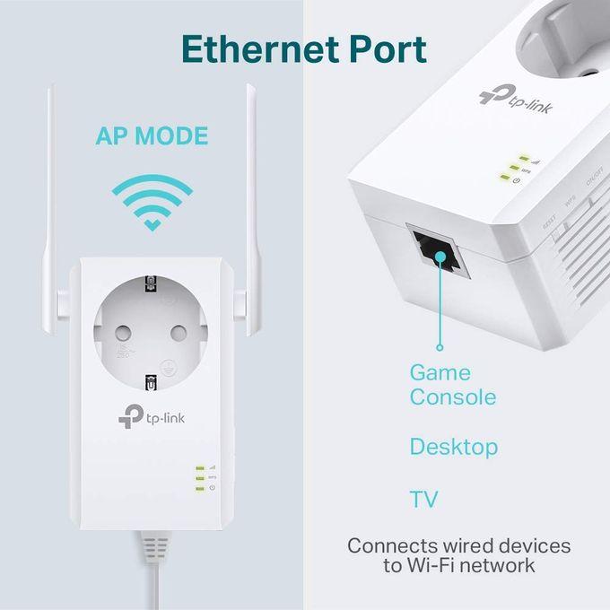 Répéteur 300 Mbps Wi Fi N Prise Intégrée Compatibilité Universelle Point Daccèsinstallation Facile Tl Wa860re