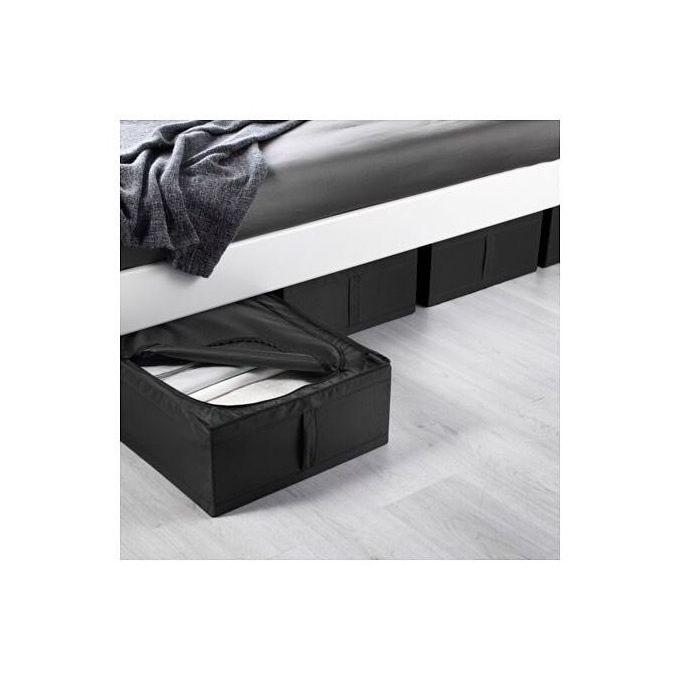 Boîte De Rangement Noire 44x55x19 Cm