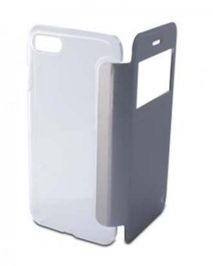 Ksix crystal folio avec fen tre et arri re transparent for Fenetre zoom iphone x