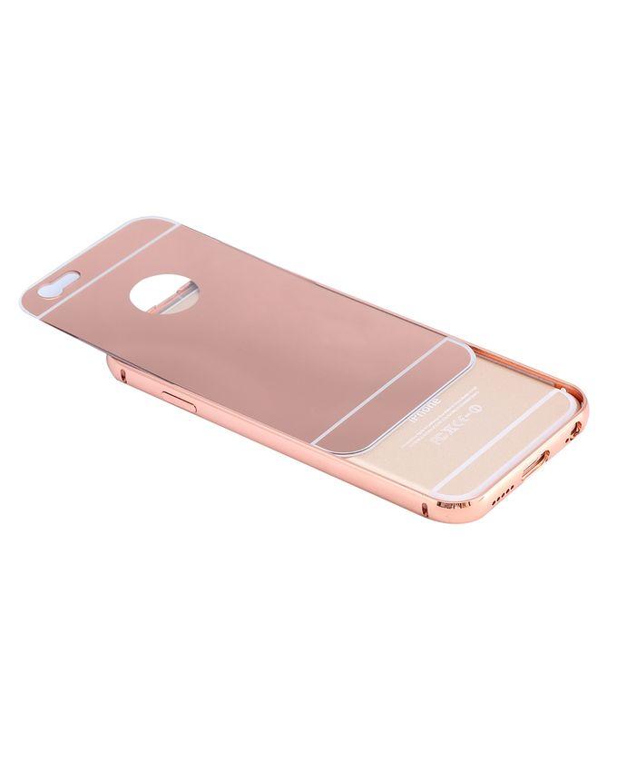 Universal coque de luxe aluminium miroir pour iphone 6s for Miroir en ligne pour se voir