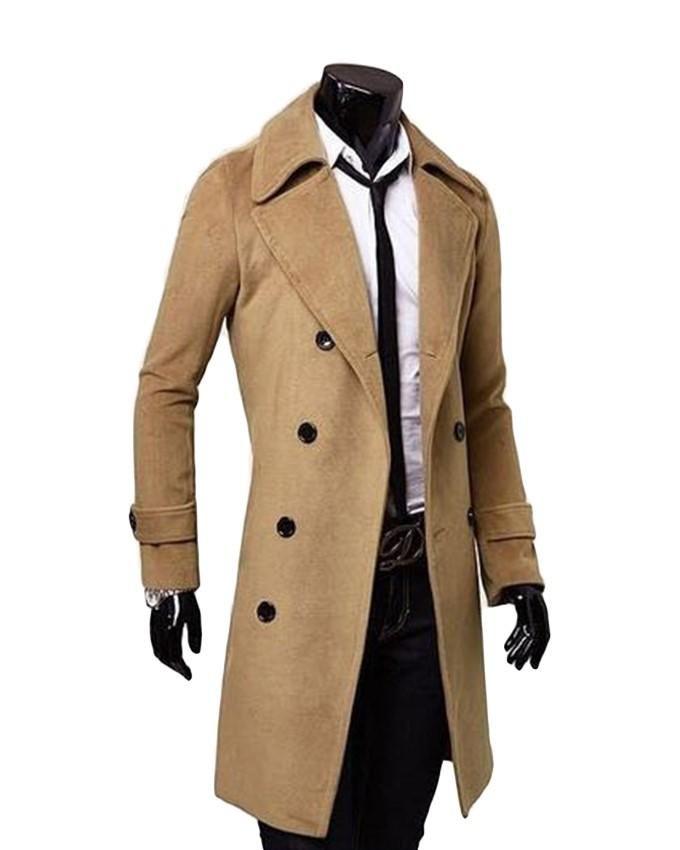 shionfa manteau 3 4 pour homme coat men en laine acheter. Black Bedroom Furniture Sets. Home Design Ideas