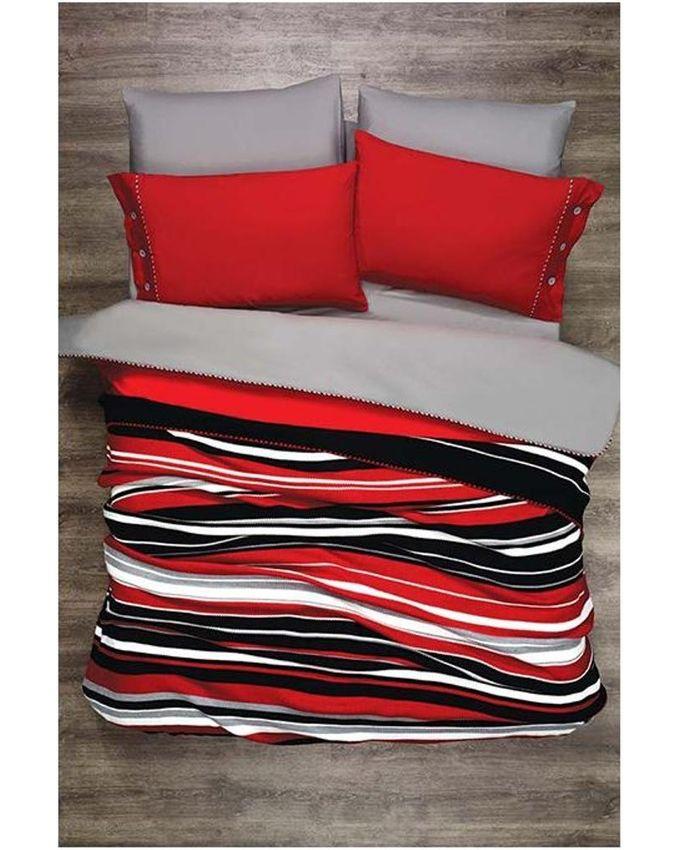 autre parure de lit 7 pi ces z bre gris rouge acheter en ligne jumia maroc. Black Bedroom Furniture Sets. Home Design Ideas