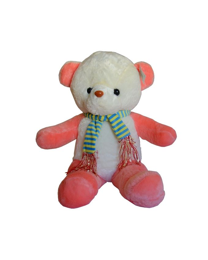 Peluche Ours avec cache col - Blanc & Rose