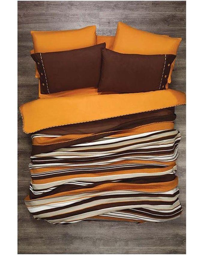 autre parure de lit 7pi ces zebre orange acheter en ligne jumia maroc. Black Bedroom Furniture Sets. Home Design Ideas