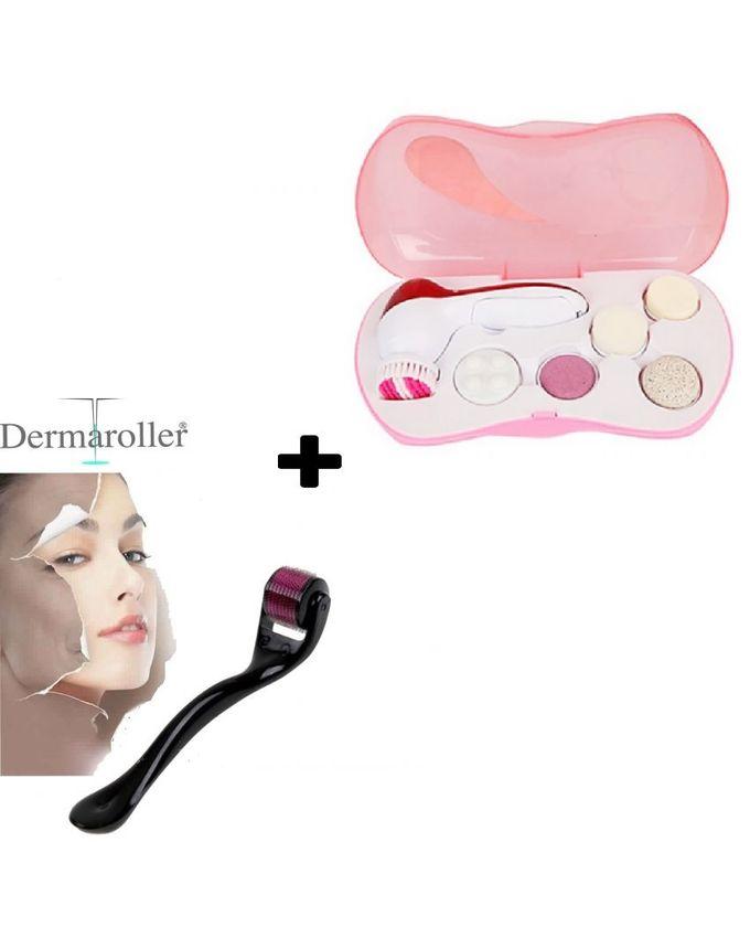 Hr store pack sp cial derma roller brosse de massage 6 en 1 acheter en ligne jumia maroc - Dermaroller visage avis ...