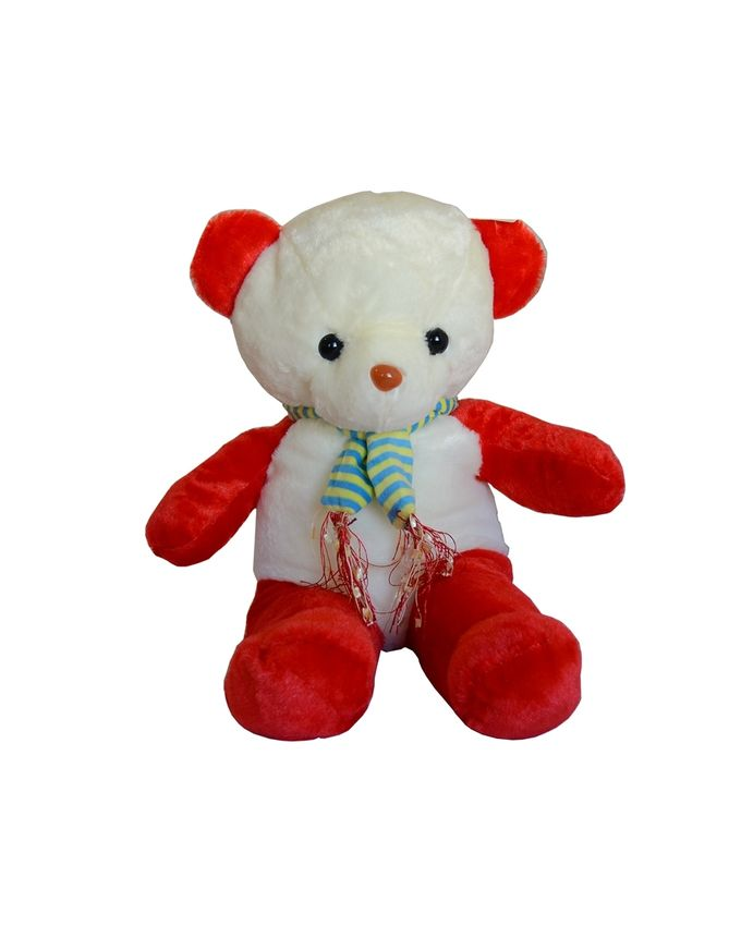 Peluche Ours - Blanc & Rouge