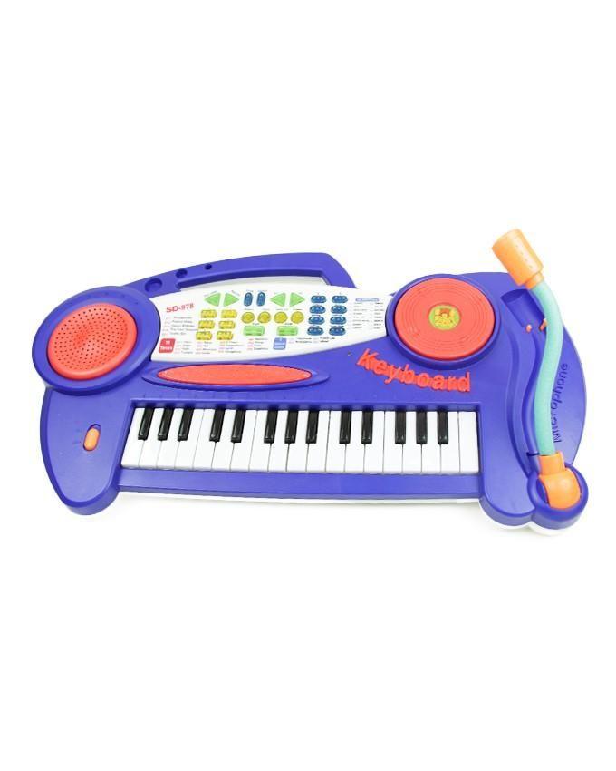 Piano Sonore Keyboard-Bleu