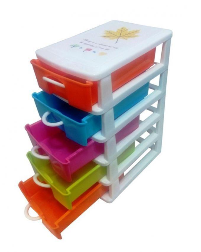 T DECO Petit Rangement de 5 Tiroirs en Plastique multicolores et multifoncti -> Tiroir Plastique Maroc