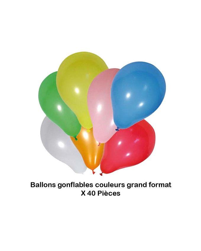 Ballons Gonflable Petit et Grand Format - 40 Pièces