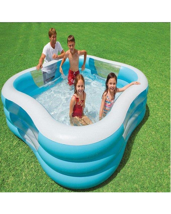 Intex piscine familiale carr swim center acheter en for Piscine intex carre