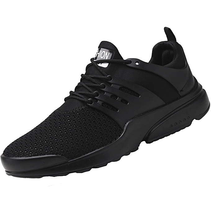 Fashion Hiamok Men's Fashion baskets Beathable Mesh Running chaussures Lace-up Casual chaussures à prix pas cher