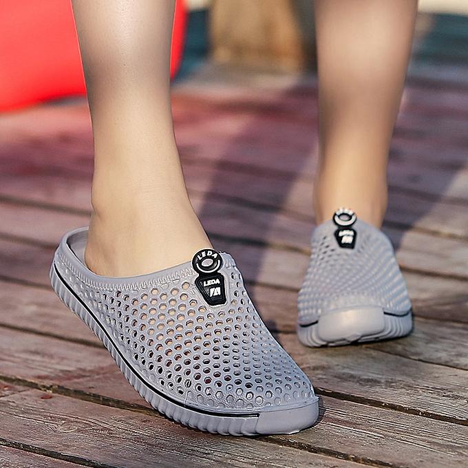 Fashion jiuhap store Men femmes chaussures Unisex Hollow out Casual Couple Beach Sandal Flip Flops chaussures à prix pas cher
