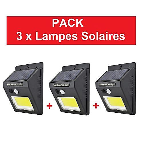Générique Pack 3 X Lampe Solaire Avec Détecteur De Mouvement