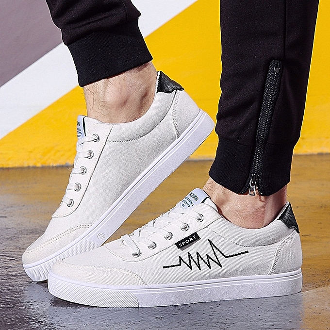 Other Stylish Men Spring and Summer Electrocardiogram Casual chaussures -blanc à prix pas cher
