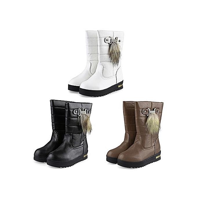 Fashion Casual Buckle Fur Fur Buckle Decoration   Snow Boots à prix pas cher  | Jumia Maroc 5ead74