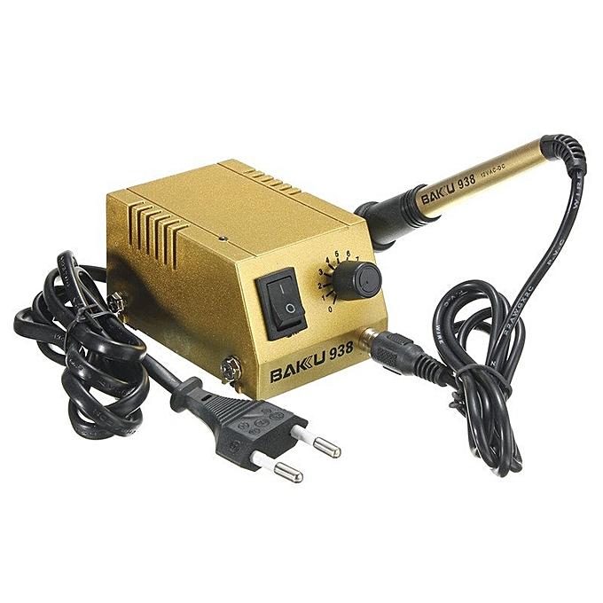 UNIVERSAL 220V Mini Soldering Station 18W Solder Iron BK-938 Adjustable Heating Iron or à prix pas cher