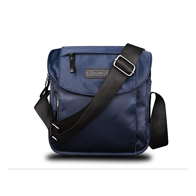 Other 10 inch New Casual Business Mens Messenger Bag Fashion Design Brand Men's Messenger Bags Oxford Vintage Mens Handbag Best Gift(Dark bleu) à prix pas cher