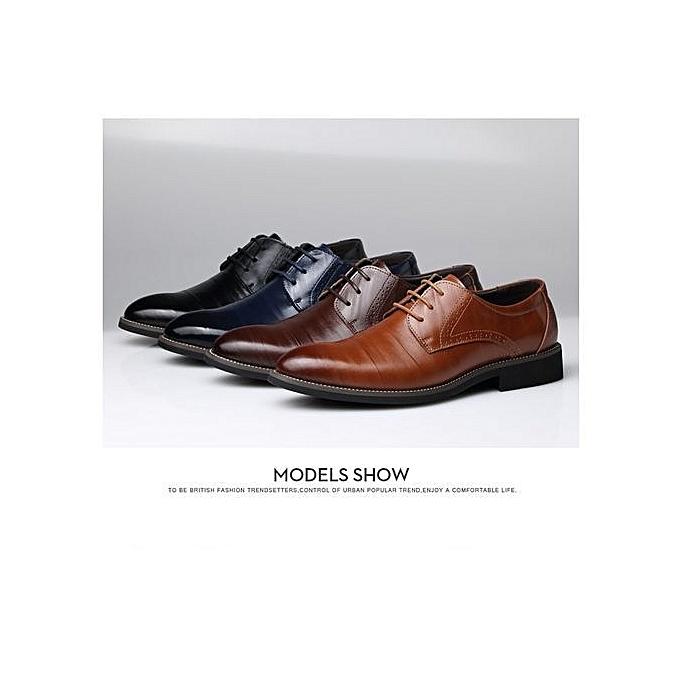 Fashion Super Large Size Business Winter  's Basic Flat Flat Basic Super Fiber Gentle Wedding Leather Shoes Luxury Brand Formal Wearing British-Bleu  à prix pas cher  | Jumia Maroc 866b90