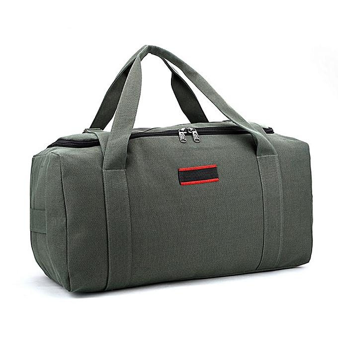 Other Men femmes Rucksack Large Capacity Handheld Handbag Canvas Camping Pack Travel Bag Wear Resistant Waterproof Sports Gym Outdoor(vert) à prix pas cher