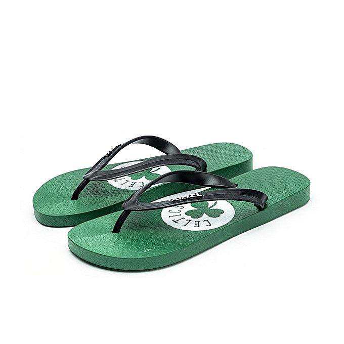 OEM Large Taille Fashion boys flip celtic cartoon flip-flops non-slip sandals hommes casual beach chaussures-vert à prix pas cher