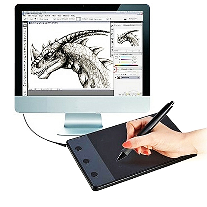 UNIVERSAL HUION H420 Computer input Device 4.17 x 2.34 inch 4000LPI Drawing Tablet Drawing Board with Pen à prix pas cher