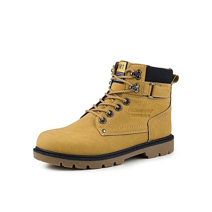 Fashion   Boots Male Shoes Adult Genuine Leather Leather Leather Autumn Winter Quality Soft Boot Man-Jaune  à prix pas cher  | Jumia Maroc 3f77c4