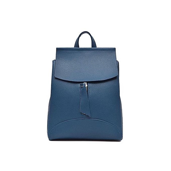 Fashion Singedanfemmes Backpack Travel Handbag Rucksack Shoulder Bag School Bag BU -bleu à prix pas cher