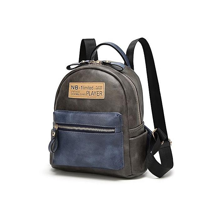 Generic Multi-function Backpack For femmes Retro Travel Bags School College Bag Casual-gris à prix pas cher