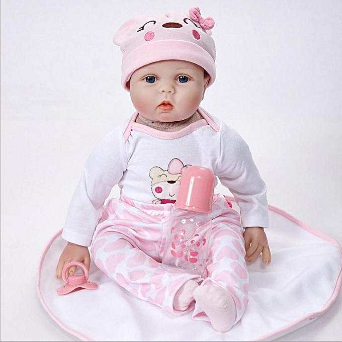 OEM NPK 16 Inch 40cm Reborn Baby Soft Silicone Doll Handmade Lifelike Baby Girl Dolls Play House Toys Birthday Gift à prix pas cher