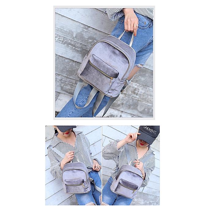 Fashion Hiamok _femmes Teenage Girl Velvet Zipper Backpack School Bags Fashion Shoulder Bag à prix pas cher