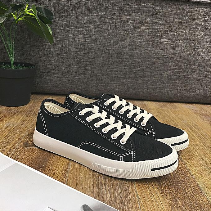 Fashion Open smile hommes canvas chaussures fashion casual chaussures noir à prix pas cher    Jumia Maroc